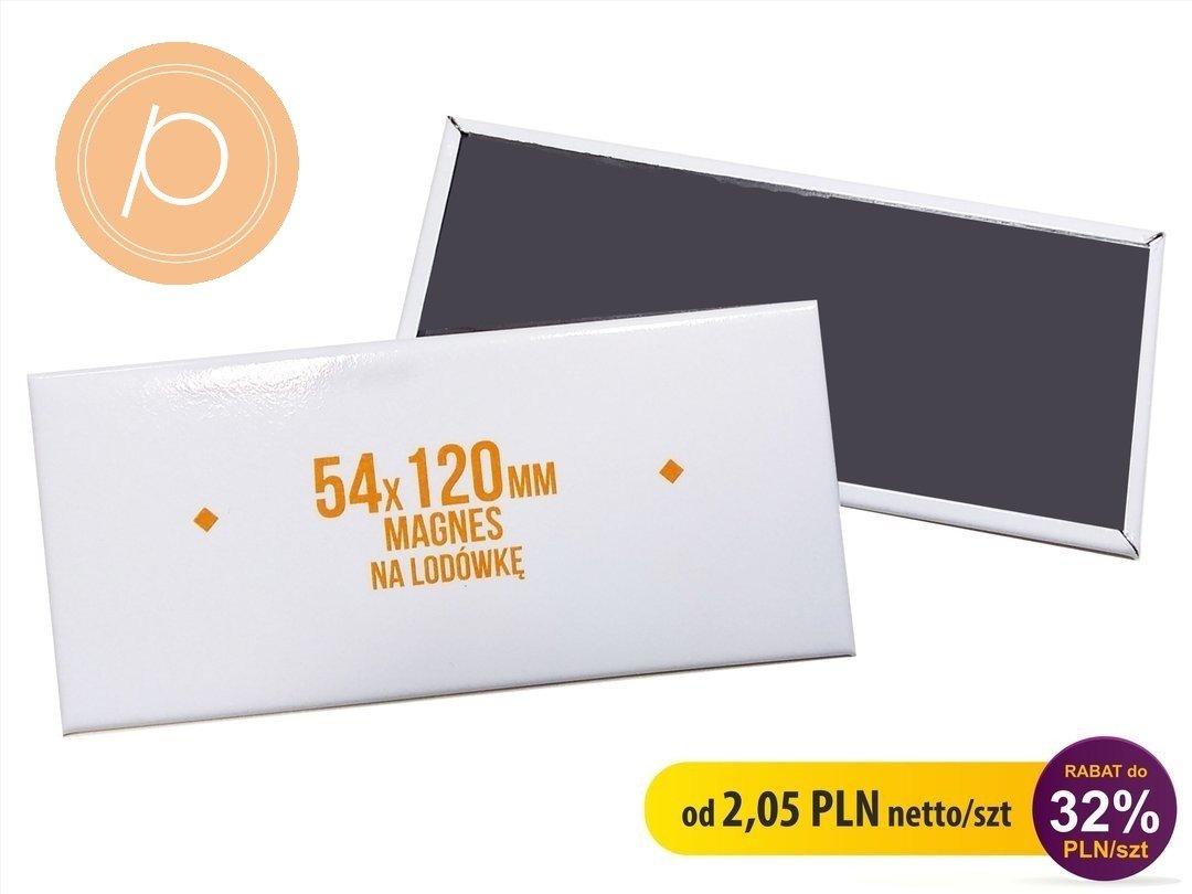 Magnes prostokąt LUX 54x120mm