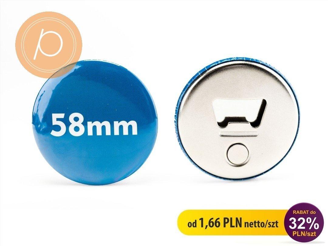 Otwieracz do butelek z magnesem okrągły 58mm