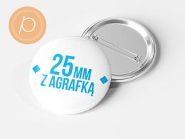 Przypinka okrągła 25mm - zapięcie na agrafkę