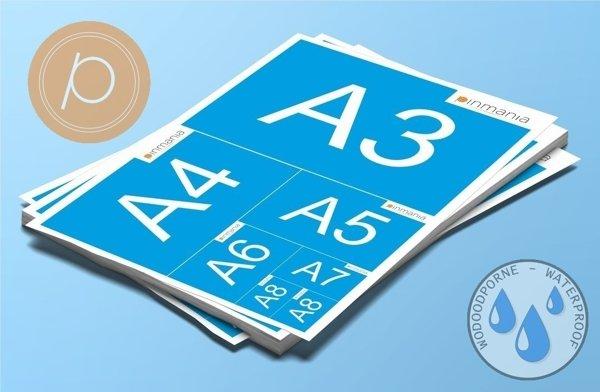 Naklejki foliowe w rozmiarach DIN od A3 do A8 - na arkuszach wodoodporne